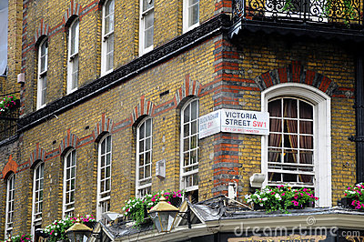 The Albert Pub in London - detail Editorial Image