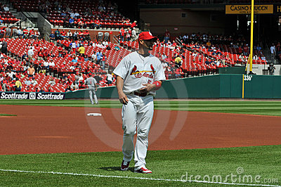 Albert Pujols at Busch Stadium Editorial Stock Image