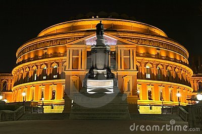 Albert royal Hall la nuit
