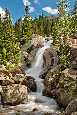 Free Alberta Falls In Rocky Mountain National Park Stock Photography - 74777352