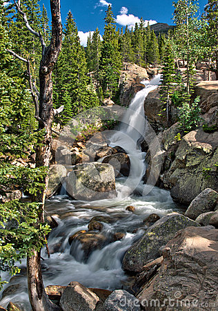 Free Alberta Falls In Rocky Mountain National Park Stock Image - 74777471