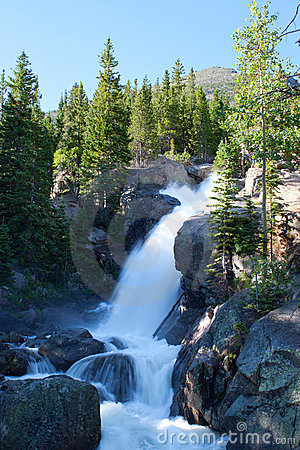 Alberta Falls in Rocky Mountains