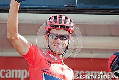 Alberto Contador at the Vuelta 2012 Editorial Stock Photo