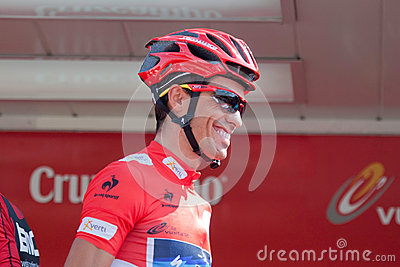 Alberto Contador at the Vuelta 2012 Editorial Photography