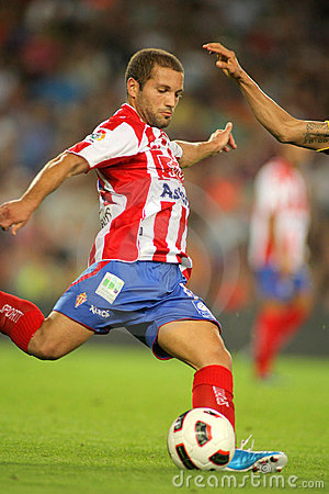 Alberto Lora of Sporting Gijon Editorial Image