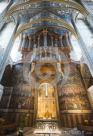 Albi (France), cathedral  interior