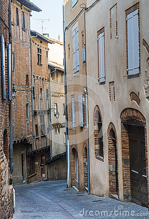 Albi, typical old street