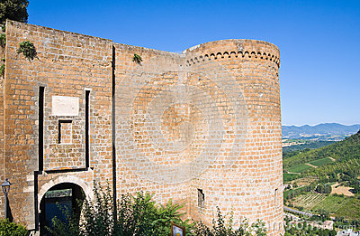 Albornoz fortress. Orvieto. Umbria. Italy.