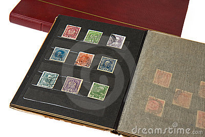 Album with postage stamps
