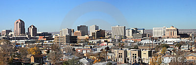 Albuquerque Downtown Panorama in Daytime
