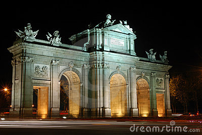 Alcala Arch in Madrid Spain