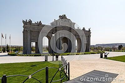 Alcala Gate Park in Europe. Madrid Stock Photo