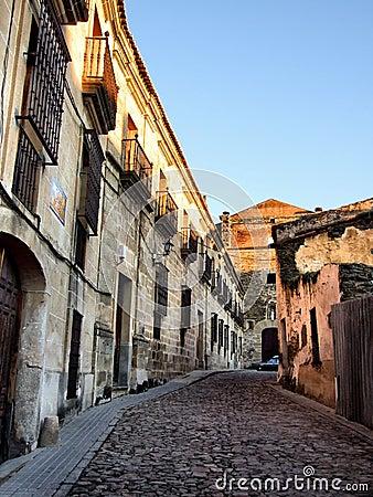 Alcantara street in Spain