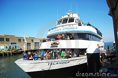 Alcatraz Cruises in San Francisco Editorial Stock Image