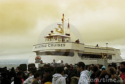 Alcatraz Cruises in San Francisco Editorial Photography