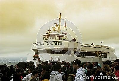 Alcatraz Cruises in San Francisco Editorial Photography