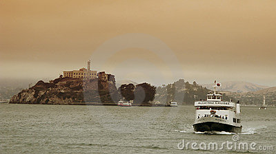 Alcatraz Cruises in San Francisco Editorial Stock Photo