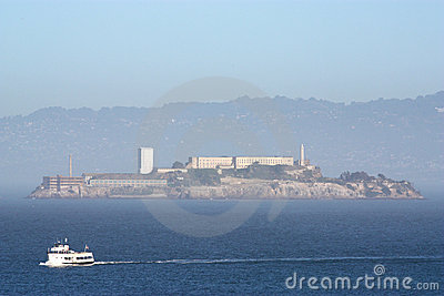 Alcatraz Island in fog