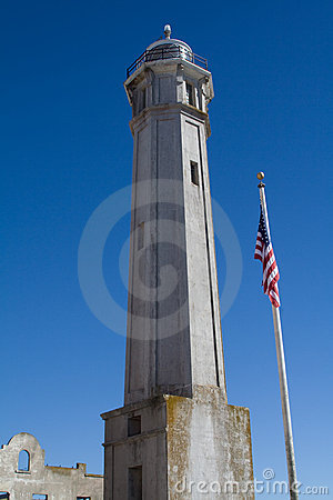 Free Alcatraz Lighthouse Tower Royalty Free Stock Photography - 5218227