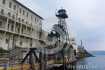 Alcatraz Guard Tower Stock Photo