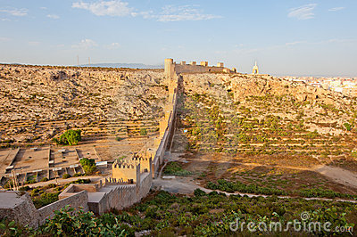 Alcazaba, ancient muslim fortress in Almeria