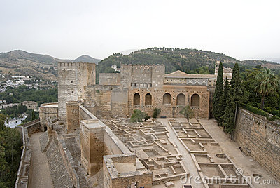 Alcazaba fortress at the Alhambra
