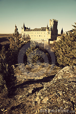 Alcazar - the castle in Segovia