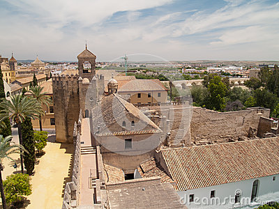 Alcazar of Cordoba from above
