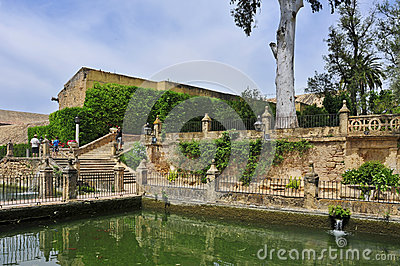 Alcazar de los Reyes Cristianos in Cordoba, Spain Editorial Stock Photo