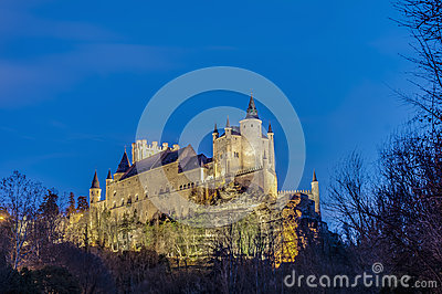 Alcazar of Segovia at Castile and Leon, Spain