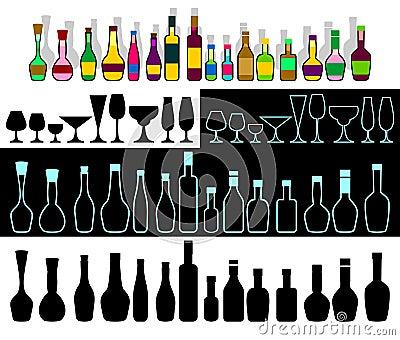 Alcohol assortment.