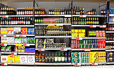 Alcohol beer and cider Editorial Stock Photo