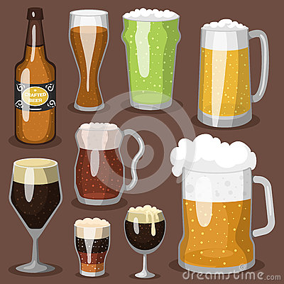 Free Alcohol Beer Vector Illustration Refreshment Brewery And Party Dark Beverage Mug Frosty Craft Drink. Stock Image - 90742801