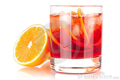 Alcohol cocktail collection - Negroni with orange