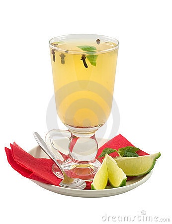 Alcohol cocktail with juice and spice