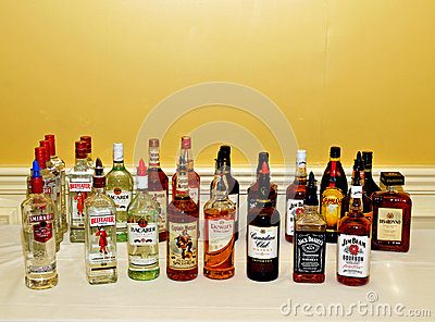 Alcohol display Editorial Image