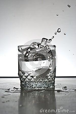 Alcohol drink splashing