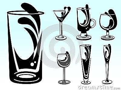 Alcohol Glass Vectors