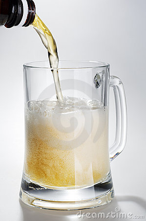 Alcohol Light Beer With Froth Stock Photos - Image: 6012603