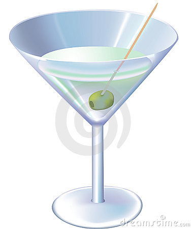 Free Alcohol сocktail With Olive On White Background Royalty Free Stock Image - 3529076