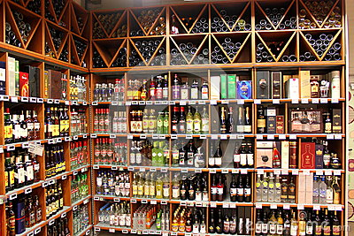 Alcohol store Editorial Stock Photo