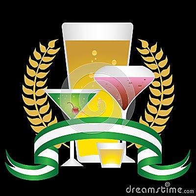 Alcoholic Beverages: Laurel Wreath Set - Black