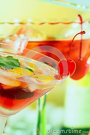 Alcoholic summer recreational drink - shallow DOF