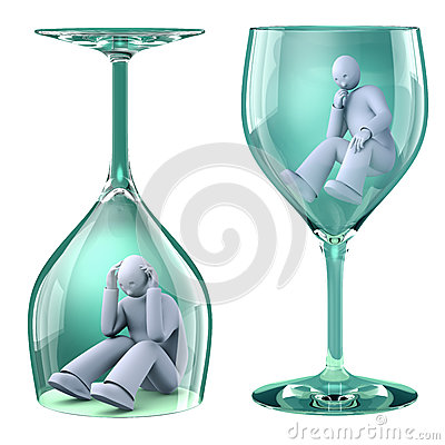 Man in glass