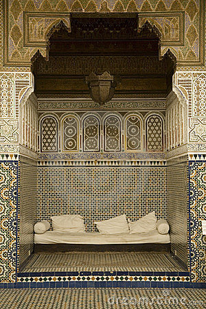 Alcove with Arabian mosaics
