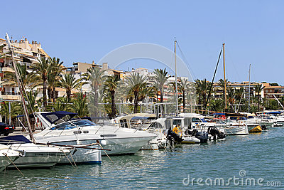 Alcudia harbor Majorca Editorial Image