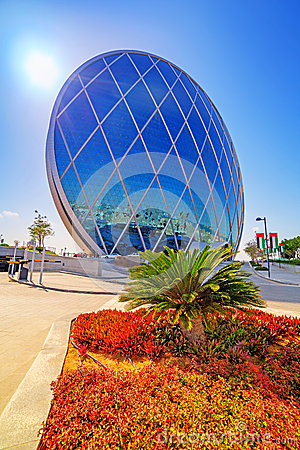 Aldar headquarters building in Abu Dhabi, UAE Editorial Stock Image