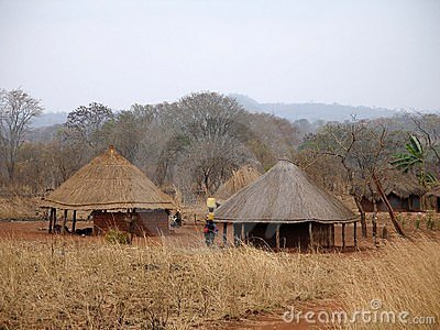 Aldea africana en Mozambique