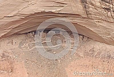 Aldea antigua del indio de Navajo