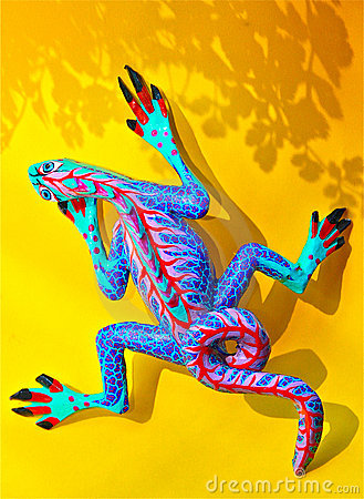 Free Alebrije On Yellow Background With Shadow Stock Photo - 14740150